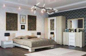 Модульная спальня Лагуна 2 ЛДСП