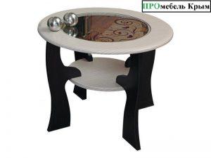 Стол журнальный Маджеста-6 с пескоструйным рисунком